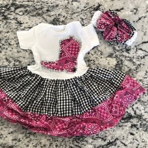 2/$20 Infant Western Outfit Newborn Cowgirl